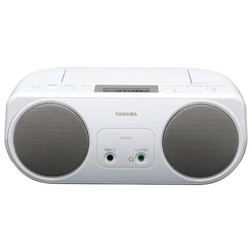 東芝 TY-C151-S(シルバー) CDラジオ ワイドFM対応