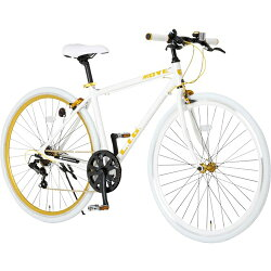 LIGLIGMOVE700Cクロスバイクシマノ7段変速ホワイト