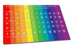 ギターウクレレポジションステッカー5枚セットメール便【ネコポス送料210円(ポスト投函)】