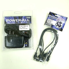 POWER-ALL PA-9S C-5/RパワーオールDC9Vパワーサプライと5デイジーチェーンケーブルL型セット