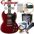 【送料無料】EpiphoneエピフォンG-400CHSG入門セット13点【エレキギター初心者】