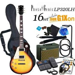 エレキギター初心者フォトジェニックPhotogenicLP-320LHBS左利き入門セット16点【G16XV】【エレキギター初心者】【送料無料】【smtb-TD】