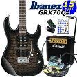 Ibanez アイバニーズ GRX70QA TKS エレキギター マーシャルアンプ付 初心者セット15点【エレキギター初心者】【送料無料】