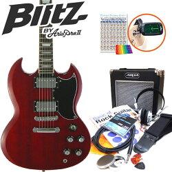 エレキギター初心者BSG-61/WRSGタイプ入門セット13点【G13】【エレキギター初心者】【送料無料】【smtb-TD】