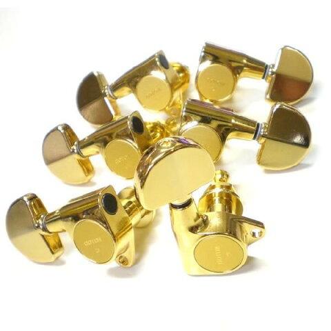 ゴトー ペグ GOTOH SG301 20 GG L3 R3 ゴールド G/GR グローバータイプボタン 両側 6個セット