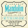D'Adario ダダリオ マンドリン弦セット EJ73 Mandolin/Light J73 【ネコポス(np)送料210円(ポスト投函)】 [旧メール便]