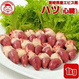 宮崎県産エビス鶏 ハツ[1kg]■生鮮品■ 【宮崎県産】【とり肉】【業務用】