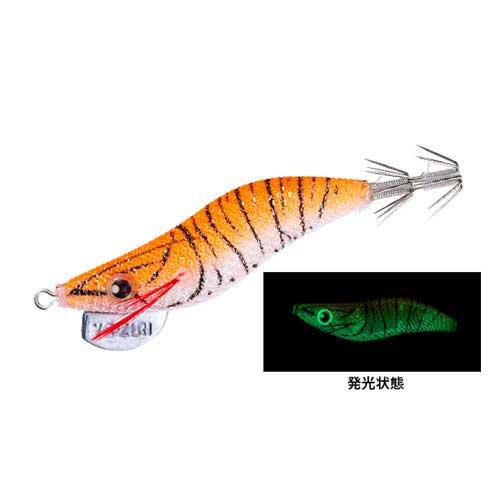 【メール便可】デュエルアオリーQRSヒイカSP2.0号8.5g2.LOG(夜光オレンジ)エギ