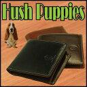 【送料無料】牛革 2つ折り 財布 Hush Puppies ...