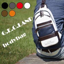 【送料無料】【G.E.O.LAND】ボディバッグボディバック自社当店オリジナル人気ブランドメンズおしゃれかっこいい大人シック