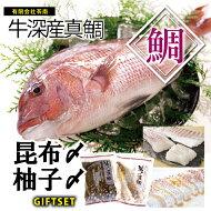 真鯛昆布〆柚子〆セット(冷凍)