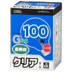 オーム電機 ボール球 長寿命タイプ G95 100W クリア E26 LB-G9600K-CLL