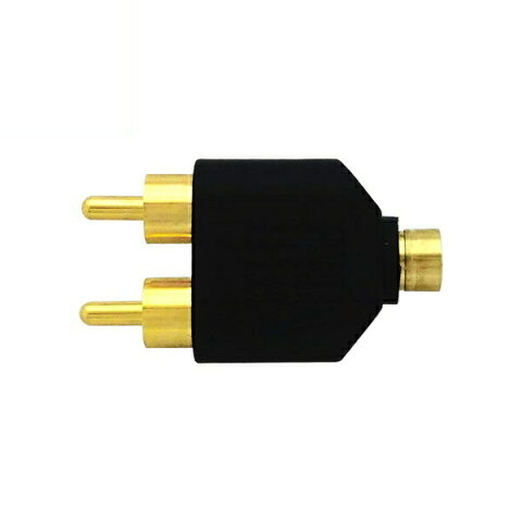『メール便送料無料』ステレオミニ(ジャック)-ステレオピン(プラグ)変換プラグ φ3.5mm-RCA×2 オーディオ変換アダプタ 3Aカンパニー AAD-35SST 『返品保証』