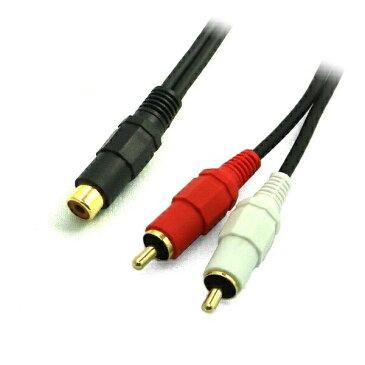 『メール便送料無料』3Aカンパニー コンポジット(メス)-ステレオピン(オス)変換ケーブル 0.3m 1ピン-2ピン オーディオ変換アダプタ AAD-R35S03 『返品保証』