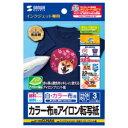 【送料無料】サンワサプライ JP-TPRCLNA6 アイロンプリント紙 カラー布用 はがきサイズ 3枚