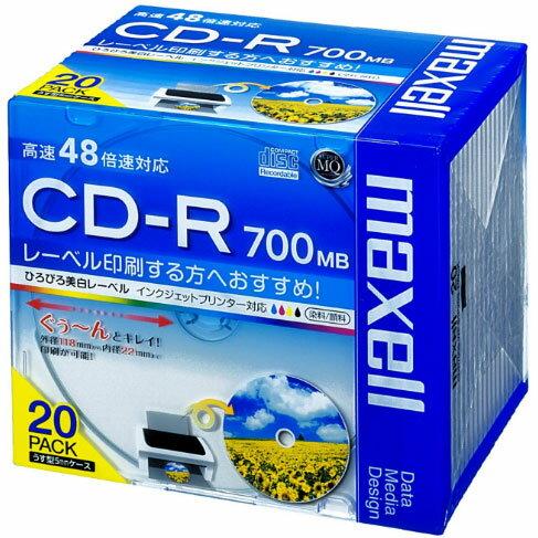 パソコン・周辺機器, その他  CDR700S.WP.S1P20S CD-R 700MB 1 48 20