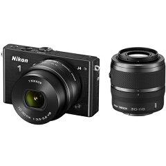 【在庫あり】【16時までのご注文完了で当日出荷可能!】Nikon NIKON1 J4 ダブルズームキット(ブ...