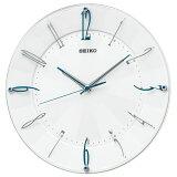 セイコー KX214W(白パール) 電波掛け時計