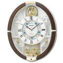 セイコー RE575B(茶マーブル模様) 電波掛け時計