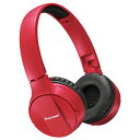 パイオニア SE-MJ553BT-R(レッド) Bluetoothヘッドホン ヘッドバンドタイプ