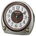 リズム時計 8RA641SR18(シャンペンゴールド) クオーツめざまし時計 デュアルサウンドR641