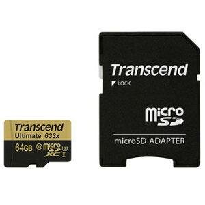 トランセンド TS64GUSDU3 microSDXCカード 64GB CLASS10