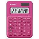 ECカレントで買える「CASIO MW-C8C-RD(ビビッドピンク カラフル電卓 10桁」の画像です。価格は583円になります。