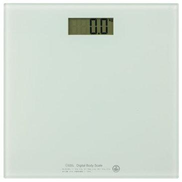 オーム電機 HBK-T100-W デジタル体重計