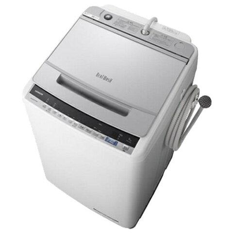 【設置+リサイクル(別途料金)+長期保証】日立 BW-V90E-S(シルバー) ビートウォッシュ 全自動洗濯機 上開き 洗濯9kg