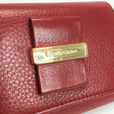 【中古】 SeeByChloe (シーバイクロエ) 3つ折り 財布 赤 リボン ミニ ゴールド カード入れ 小銭入れ コンパクトウォレット 【USED-B】