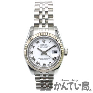 [Used] ROLEX 179174 Datejust White Dial Roman index V number around 2009 Roulette Ladies Watch [USED-A]