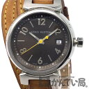 LOUIS VUITTON(ルイ・ヴィトン) Q1211 タンブール トリプルコイルド QZ クオーツ レディース 腕時計 ヌメ革 モノグラム【USED-B】