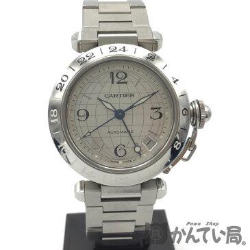 Cartier(カルティエ) パシャC メリディアン GMT デイト ボーイズ シルバー文字盤 オートマ 35mm メンズ レディース 腕時計【USED-A】