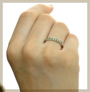 プラチナ900グリーンダイヤモンドリング0.18ct