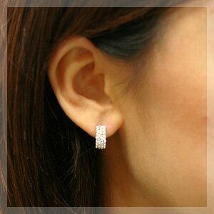 K14WGダイヤモンドピアス0.88ct