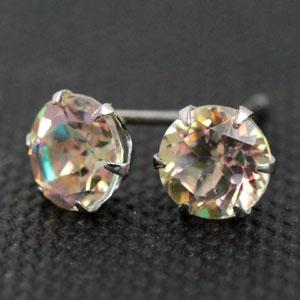 Platinum 900 カンバーランドトパーズ 5.0 mm earrings