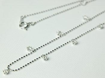 K18 ダイヤモンド ステーション ネックレス 0.3ct:ジュエリーエクセレンテ
