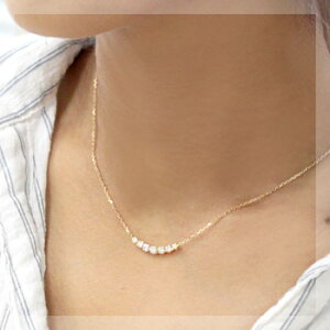 グラデーションダイヤモンドがリッチにデコルテを飾る‥K18グラデーションダイヤネックレス0.5ct