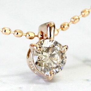 ダイヤモンド ネックレス シャンパン ブラウン ペンダント
