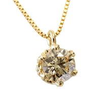 シャンパン ブラウン ダイヤモンド ペンダント ネックレス キャスト クラウン デザイン シリーズ