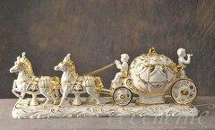 50%OFF★ イタリア家具 ヨーロッパ家具 SV2-49692イタリア製陶人形 Cinderella Carriage 13750...
