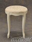 アンティーク調 ロココ調イタリア家具丸型スツール