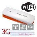【あす楽対応_関東】【在庫あり】軽量小型!バッテリーチャージャー機能付!Wi-Fiミニホット/スポット無線LANルーター3Gとモバイルバッテリーがこれ1台で!3G-WIFI-Router(オレンジ)