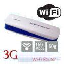 【あす楽対応_関東】【在庫あり】軽量小型!バッテリーチャージャー機能付!Wi-Fiミニホット/スポット無線LANルーター3Gとモバイルバッテリーがこれ1台で!3G-WIFI-Router(ブルー)