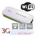 【あす楽対応_関東】【在庫あり】軽量小型!バッテリーチャージャー機能付!Wi-Fiミニホット/スポット無線LANルーター3Gとモバイルバッテリーがこれ1台で!3G-WIFI-Router(グリーン)