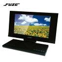 【送料無料】FUZEフューズスライド式フルセグチューナー搭載DVDプレーヤー付き14インチハイビジョンテレビPDV140BK【OC】