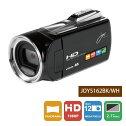 【送料無料】joyeuxジョワイユFULLHDビデオカメラJOY5162(BK-ブラック)JOY5162BK
