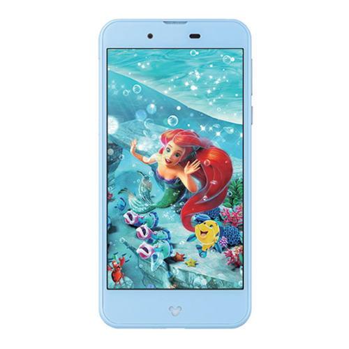 【国内正規品】docomo SIMフリースマートフォン(白ロム)Disney mobile on docomo DM-01Jセット(ブルー/Blue):ECクルー