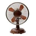 【新製品】エスキュービズム・エレクトリック卓上木目調レトロ扇風機SCF-S05DB(ダークウッド)SCFS05-DB【夏物家電特集】