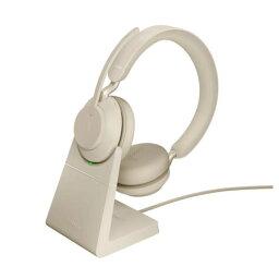 【お取り寄せ商品】【送料無料】Jabra ジャブラ ステレオヘッドセット 法人向け 2年保証付 USBドングル付 Microsoft Teams 認定 Evolve2 65 MS Stereo USB-A Stand Biege 26599-999-988 26599999988